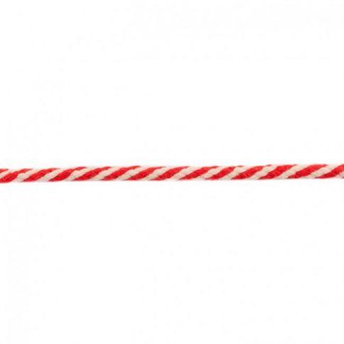 rote zweifarbige Baumwollkordel 8mm