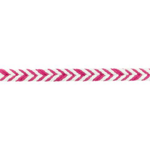 Fischgrät pink Baumwollkordel 10mm