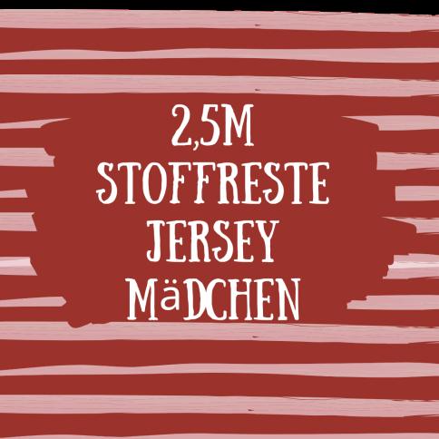 2,5m Stoffreste Jersey Mädchen