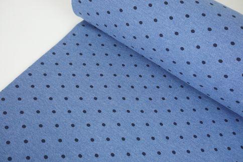 Jeansblau Punkte Bündchen