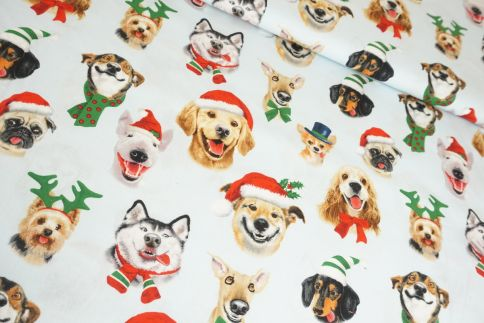 Funny Christmas Dogs Baumwolle