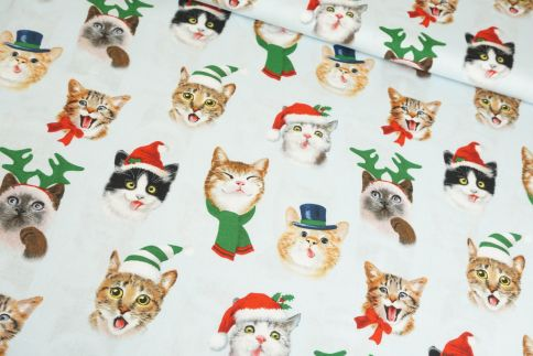 Funny Christmas Cats Baumwolle