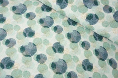 Dots Petrol Musselin