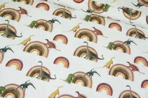 Dinoregenbogen Erdfarben Jersey