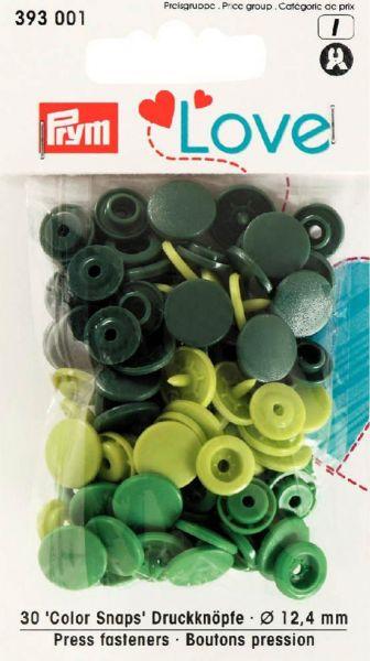 Druckknopf Color Snaps, Prym Love, Kunststoff, 12,4mm, grün