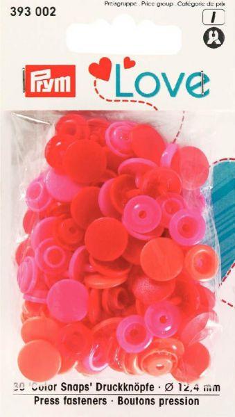 Druckknopf Color Snaps, Prym Love, 12,4mm, rot