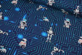 Roboter blau grau Jersey