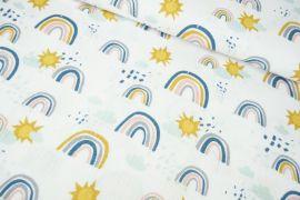 Regenbogen Sonne Musselin