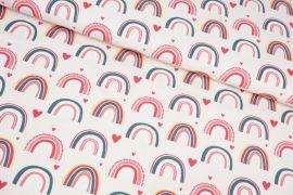 Regenbogen rosa/pink/senf  Jersey