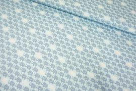 Kleine Elefanten blau Baumwolle