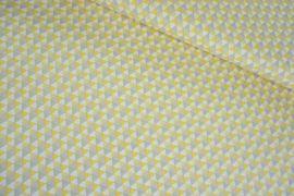 Kleine Dreiecke gelb/beige Baumwolle